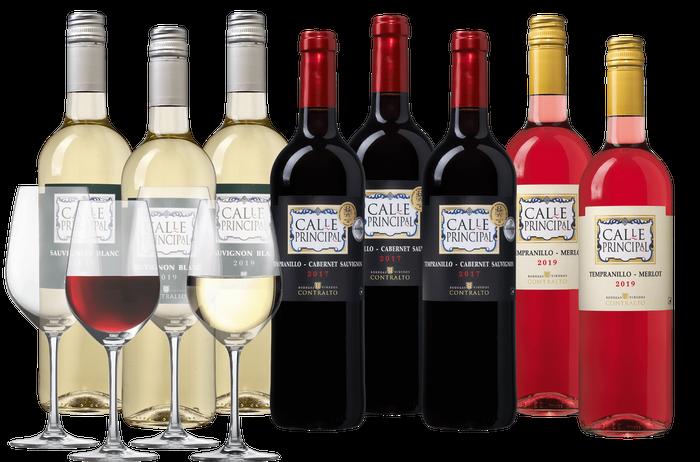 Spaans Wijnpakket met glazen   Wijnvoordeel