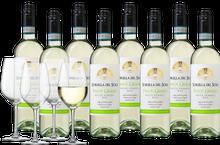 Wijnpakket Sorella del Sole Pinot Grigio met 4 glazen