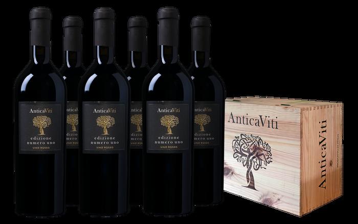 Antica Viti Edizione Numero Uno Vino Rosso wijnkist