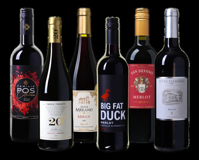 Wijnpakket Merlot   Wijnvoordeel
