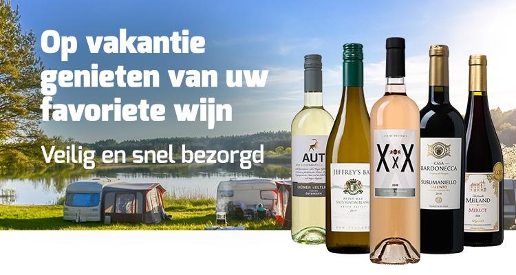 Op vakantie genieten van uw wijnen