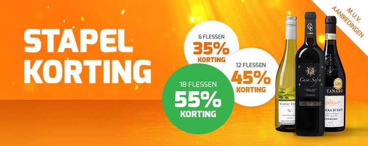 Web header stapelkorting mobile wvd hoek